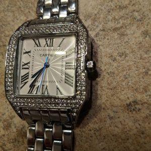 Cartier like silver watch